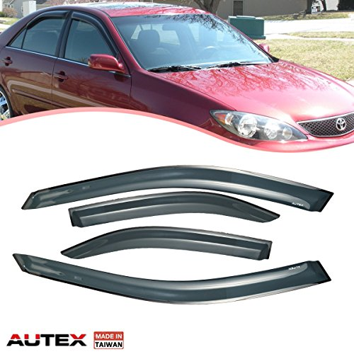 Cheap AUTEX Tape-on Window Deflector Fits for 2002 2003 2004 2005 2006 Toyota Camry Window Visor Wind Deflectors supplier