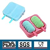 Best Ice Cream Maker For Kids - Silicone Popsicle Molds Cute Ice Pop Molds Review