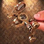 Steampunk Folding Binoculars w/Compass - Brass Opera Glasses 7