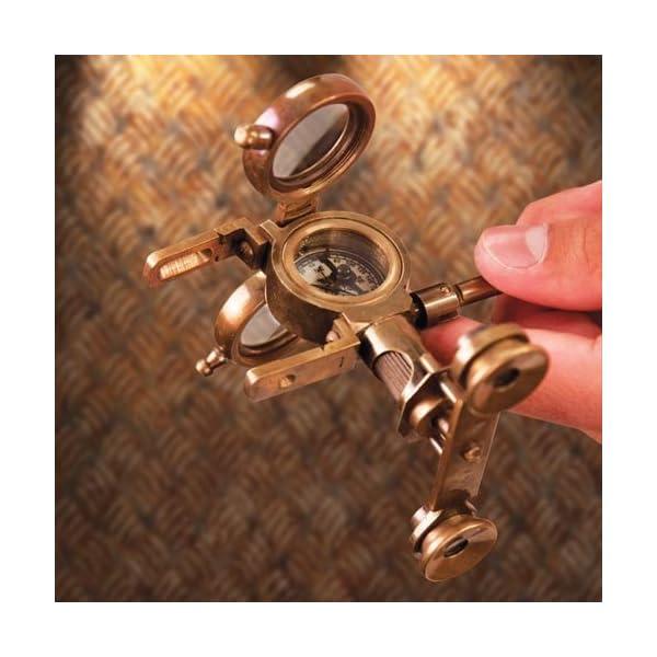 Steampunk Folding Binoculars w/Compass - Brass Opera Glasses 4