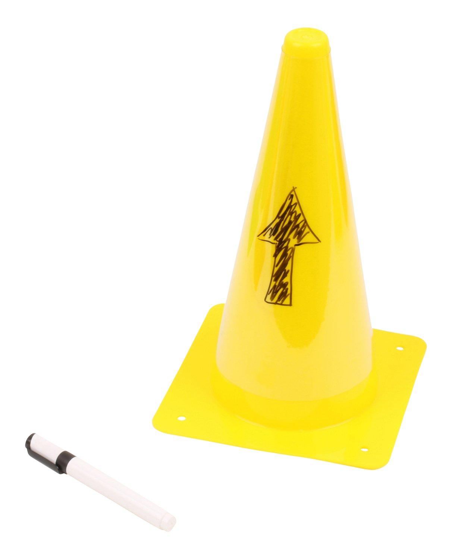 10 beschreibbare H/ütchen mit Stift Gelb Vinex Set Rot 30 cm Gr/ün 23 cm