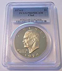 1974 Eisenhower Dollar Values And Prices Past Sales Coinvaluescom
