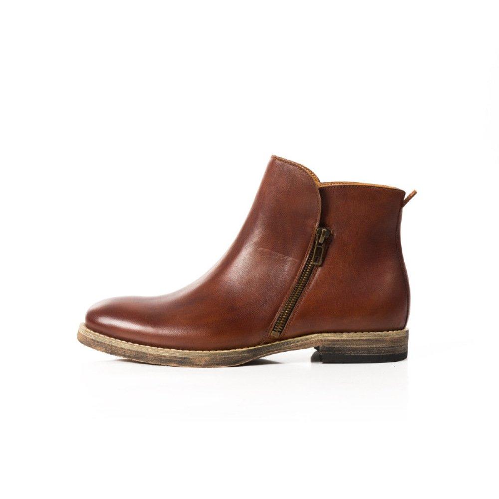 GTYMFH Herbst Schuhe England Vintage Lederstiefel