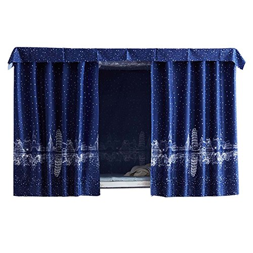 FANCY PUMPKIN Simple Dormitory Bunk Bed Curtains Dustproof Bedroom Curtains Shading Cloth, C-03