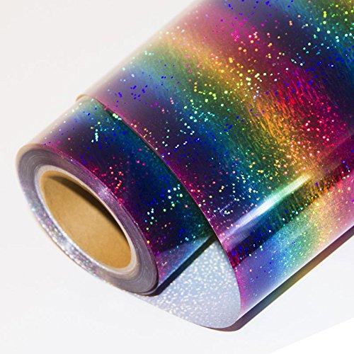 HOHO Holographic Stripe Multi Heat Transfer Vinyl Iron-on HTV Press Paper Sheet for Garment T-shirt 20