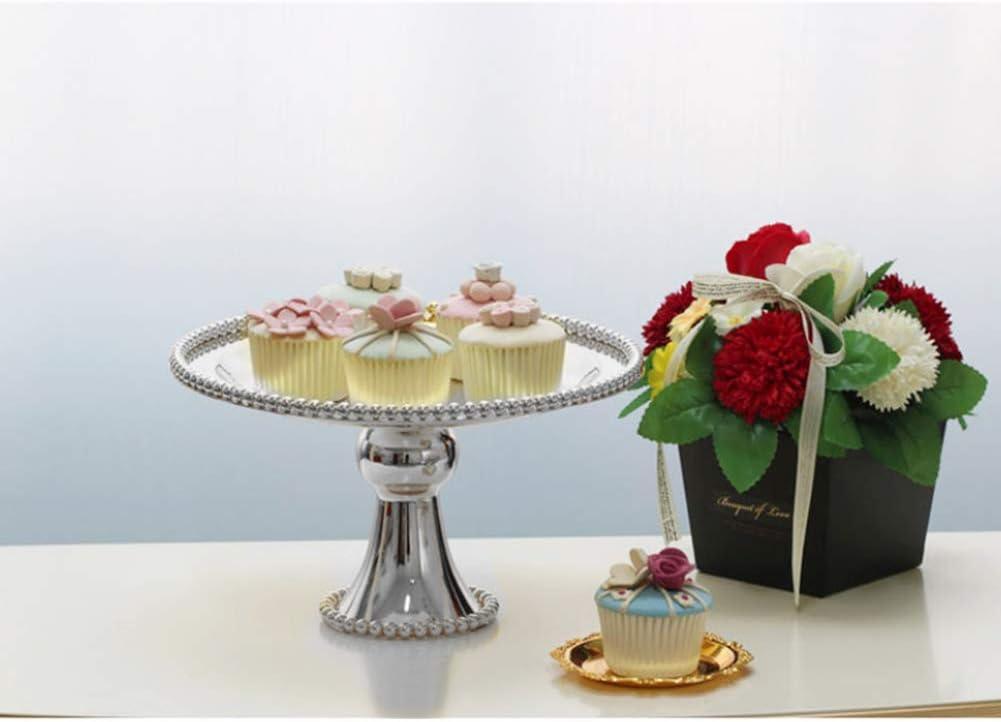 Ruiting Iron Cake Display Stand Silver 15cm Wedding Birthday Supplies Fruit Cupcake Stand Holder Iron Dessert Stand