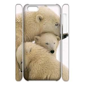 AKERCY Polar Bear Phone 3D Case For Iphone 5C [Pattern-6]
