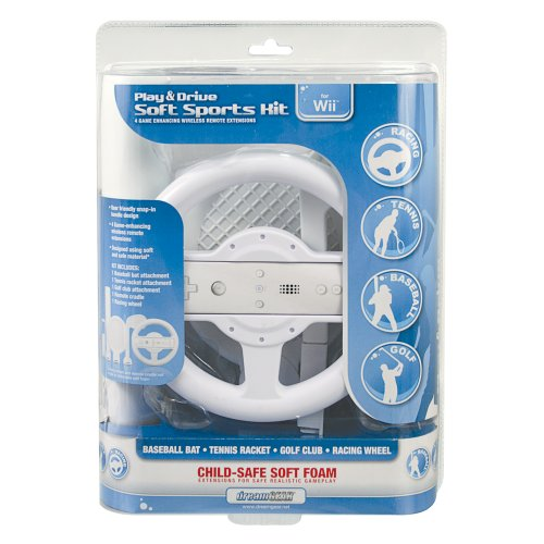 Dreamgear DGWII-1058 Play and Drive Soft Sports Kit for Nintendo Wii