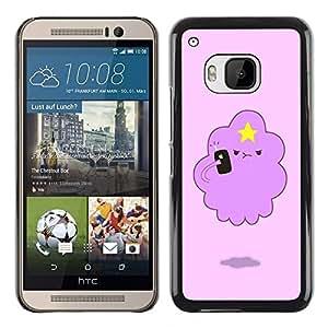TopCaseStore / la caja del caucho duro de la cubierta de protección de la piel - Angry Cloud Star Art Drawing Cartoon - HTC One M9