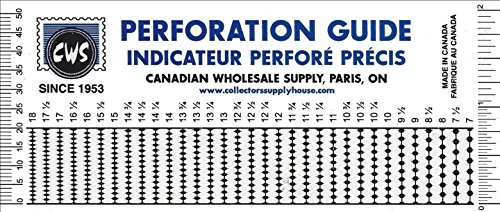 Uni-Safe Crystal Clear Perforation Gauge and Ruler