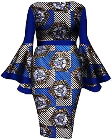 583c0c5032cf3 YUHENG Women Plus Size Dress Elegant flowes Printed Round Neck Horn Long  Sleeve Cocktail Party Dress