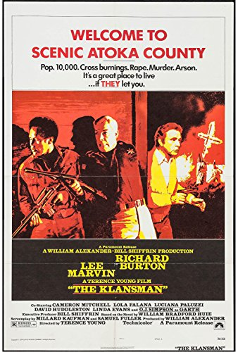 (THE KLANSMAN original 1974 27x41 one sheet movie poster RICHARD BURTON/LEE MARVIN/O.J. SIMPSON )