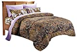 20 Lakes Woodland Hunter Camo Comforter, Sheet, Pillowcase Set (King, Forest)