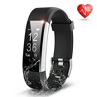 Fitness Tracker, Semaco Heart Rate Monitor Waterproof Activity Health Tracker Bluetooth Wireless Smart Bracelet with Pedometer Sleep Monitor Step Calorie Counter Activity Wristband for iOS and Android