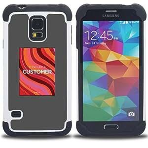 - customer service job poster grey red - - Doble capa caja de la armadura Defender FOR Samsung Galaxy S5 I9600 G9009 G9008V RetroCandy