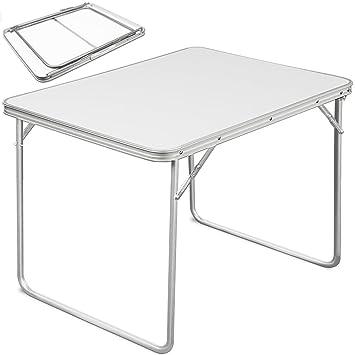 Deuba | Table de Camping • 80x60x68 cm • Pliante • Aluminium/MDF ...