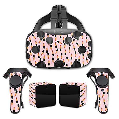 MightySkins Skin Compatible with HTC Vive Full Coverage - Lipstick Pattern | Protective, Durable, and Unique Vinyl Decal wrap Cover | Easy to Apply, Remove, and Change Styles | Made in The USA