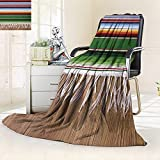 YOYI-HOME Digital Printing Duplex Printed Blanket Mexican Summer Quilt Comforter/79 W by 59'' H