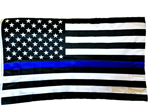 American Flag,for Our Police and Military US Flag.Thin Blue Line,3x5 foot.Top Garden Decor
