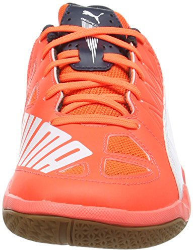 total Indoor lava Orange white Puma 5 Blast Eclipse Multisport Chaussures Evospeed Adulte Mixte 4 B57x1aq
