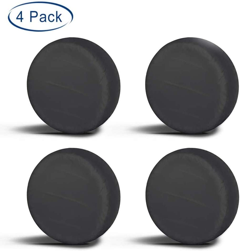 Aebitsry Tire Covers for RV Wheel, (4 Pack) Motorhome Wheel Covers Waterproof Oxford Sun UV Tires Protector for Trailer, Camper,Universal Fits 24
