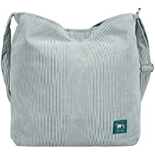 Heavy Duty Corduroy With Canvas Lining Tote Shopping Bag Reusable Ideal for Groceries,School and Office Use With Handle