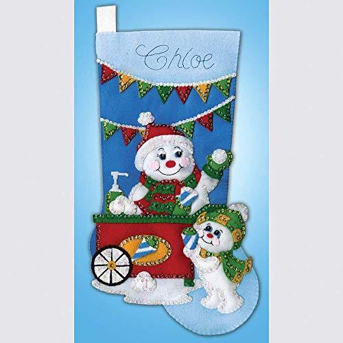 Design Works Snow Cone Snowman Stocking Stocking Kit (Stocking Kit Snow)
