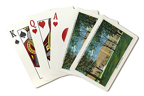 Mooseheart, Illinois - Exterior View of the Illinois Memorial Stadium (Playing Card Deck - 52 Card Poker Size with Jokers)