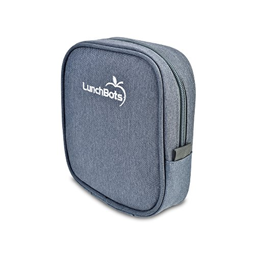 "LunchBots Classic Sleeve - Gray - Carrying Case for LunchBots Uno, Duo, Trio, Quad Classic 5"" x 6"" Containers"
