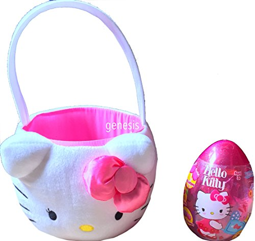 Hello Kitty Easter Plush Basket With Jumbo Hello Kitty Candy