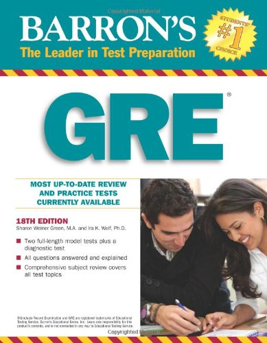 Barron's GRE: Graduate Record Examination (Barron's: The Leader in Test Preparation)