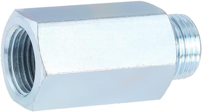Kkmoon Edelstahl Sauerstoff Sensor O2 Lambda Sensor Extender Abstandhalter Für Decat Wasserstoff M18 Auto