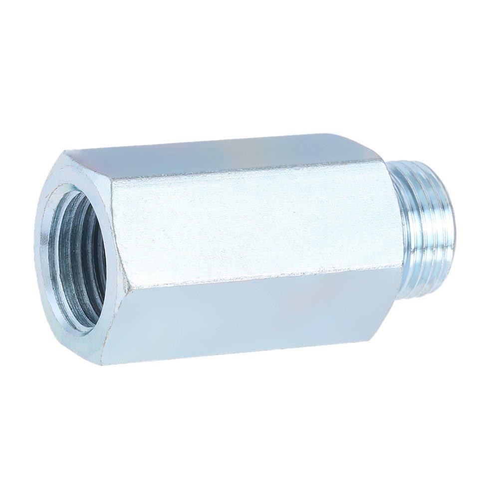 KKmoon sensore di ossigeno Extender distanziatore in acciaio INOX, sensore di ossigeno O2 lambda Sensor Extender distanziatore per Decat & idrogeno M18 sensore di ossigeno O2lambda Sensor Extender distanziatore per Decat & idrogeno M18