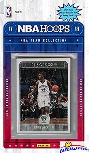 Brooklyn Nets 2017/18 Panini Hoops NBA Basketball EXCLUSIVE Factory Sealed Limited Edition 12 Card Team Set with D'Angelo Russell, DeMarre Carroll, Jeremy Lin & More! Shipped in Bubble Mailer! WOWZZER