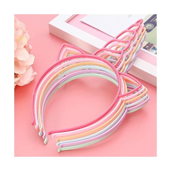 FANKUTOYS 12 Pack Unicorn Headbands Hair Hoop Girls Party Decoration Headdress Birthday Party Favors Unicorn Photo Props 6