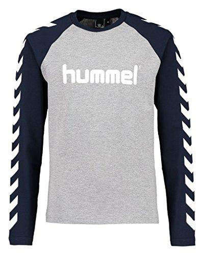 Hummel Jungen Boys LS Tee AW16 T-Shirt, Medium Melange, 152