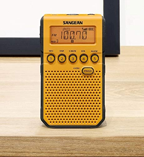 Sangean DT-800YL AM / FM / NOAA Weather Alert Rechargeable Pocket Radio (Yellow) by Saugeen America, Inc. (Image #7)