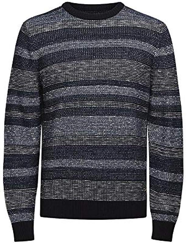 Jack & Jones sweter w paski – męski, niebieski kolor – XXL: Odzież