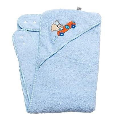Clevamama Splash&Wrap - Toalla de baño para bebé, color azul