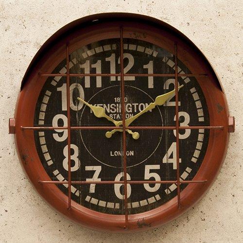 アンティーク クロック サブマリン(潜水艦)レトロ調 ビンテージ クロック 壁掛け時計 時計 アメリカン雑貨 アメ雑貨 アメリカ (レッド) B014S9Z9C2レッド