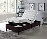 Home Life Electric Adjustable Platform Bed Frame with Remote Control - Linen Brown - Queen