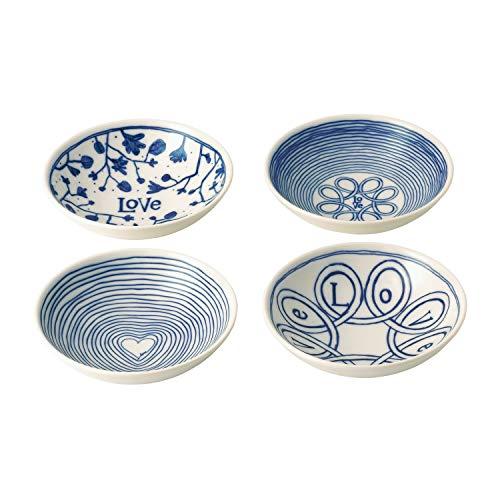 Royal Doulton Gift Set Ellen Degeneres Love 14cm Accent Bowl Set of 4, Multi, 4