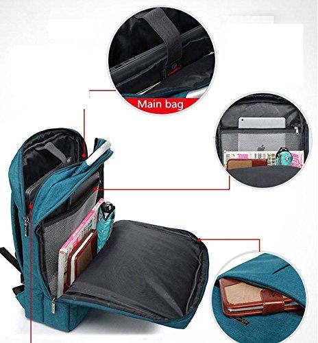 FEN La Sra tendencia de las mujeres jóvenes mochila mochila de 14-17 pulgadas bolsa mochila portátil Bolsas Mochila Hombres , gray , 14inch gray