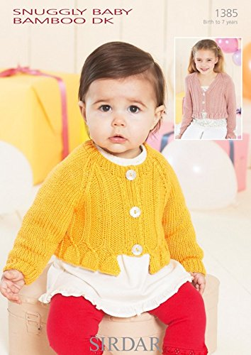 - Sirdar Baby Cardigans Knitting Pattern 1385 DK