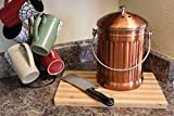 Gardenatomy Copper Kitchen Compost Bin Countertop