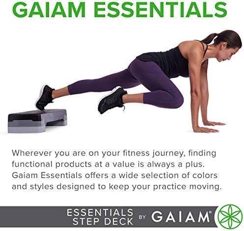 gaiam Essentials - Plataforma de Ejercicio aeróbico para escalones, Plataforma de Entrenamiento con Altura Ajustable y Superficie Texturizada Antideslizante 8