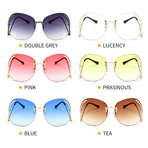 Transparente estilo unisex 1 mariposa sol grande 008 par Logres de retro vintage tamaño de gafas de diseño con de gOUqZ
