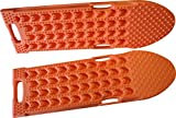 MAXSA Escaper Buddy Connectable Traction Mat (Set of 2) for Off-Road Mud, Sand, & Snow, Vehicle Extraction, Orange, Use as one 94 inch long traction mat or use separately as two mats, 20334