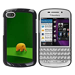 Impact Case Cover with Art Pattern Designs FOR BlackBerry Q10 Funny Cute Elephant Betty shop