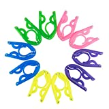 Daixers Portable Folding Clothes Hangers Clothes Drying Rack for Travel 10 Pcs/Set (Assorted Colors)